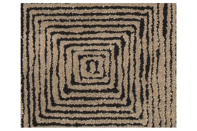 Kanan 5' x 8' Rug, Taupe/Black, large