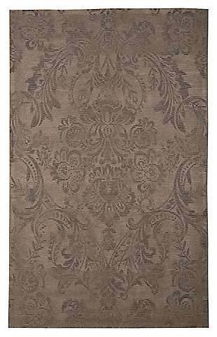 Burks 5' x 8' Rug, Brown, large