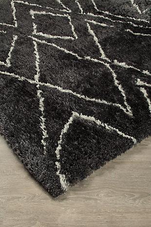 Deryn 5' x 7' Rug, Black/White, rollover