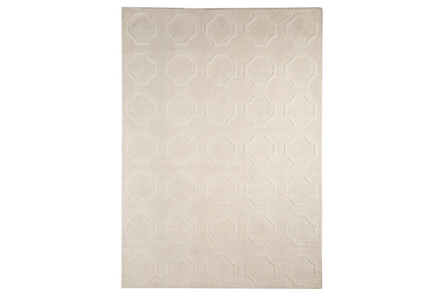 Martyn 5' x 8' Rug, Ivory, large