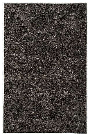 Hermon 5' x 8' Rug, Black, large
