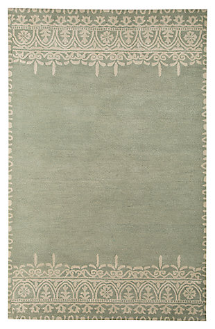 Brimly 5' x 8' Rug, Green, large