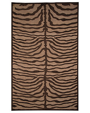 "Tafari 7'6"" x 10' Rug, Brown, large"