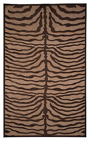 Tafari 5' x 8' Rug, Brown, large