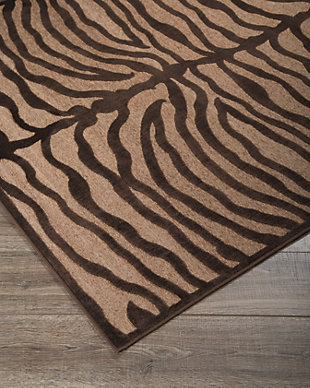 "Tafari 7'6"" x 10' Rug, Brown, rollover"