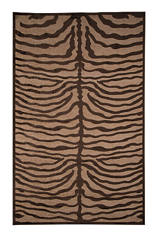 Tafari 5' x 8' Rug, Brown, large