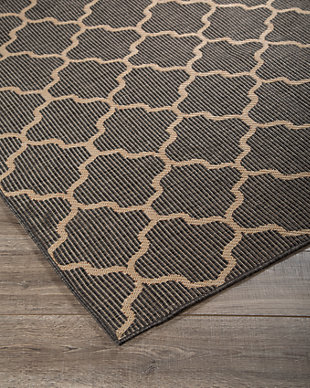 "Daponte 7'6"" x 10' Rug, Gray, large"