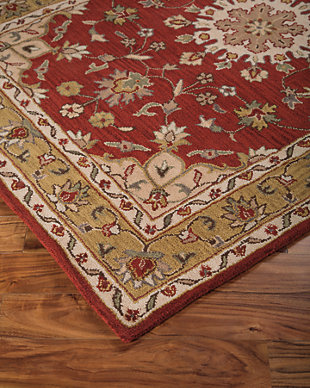 Maroney 5' x 8' Rug, Red, rollover