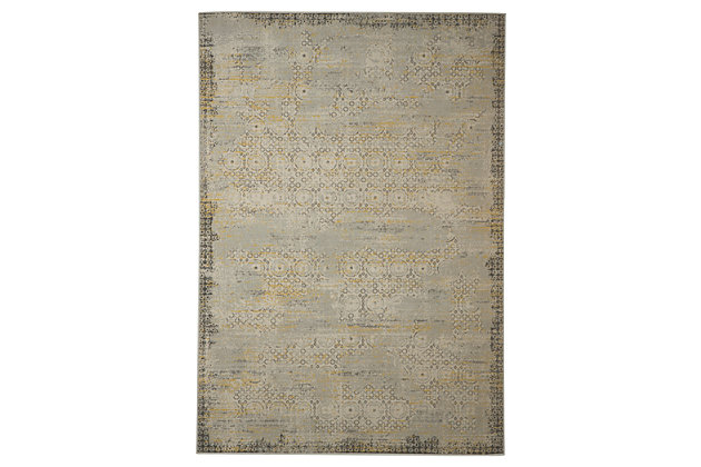 Dallon 5' x 8' Rug by Ashley HomeStore, Silver