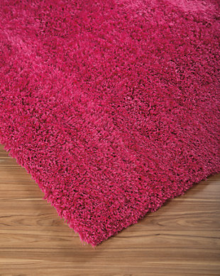 Alonso 5' x 7' Rug, Pink, large