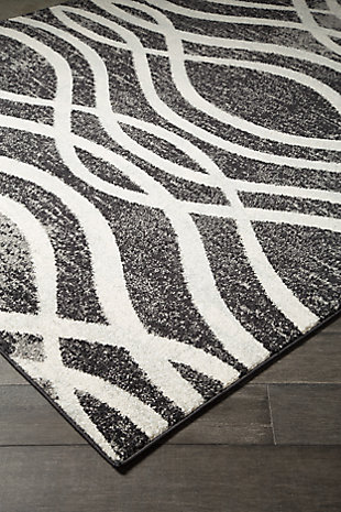 Avi 5' x 7' Rug, Gray/White, rollover