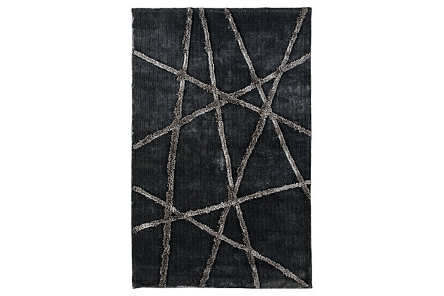 Zorion 5' x 8' Rug by Ashley HomeStore, Gray, Polyester (...