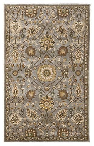 Dulani 5' x 8' Rug, Green/Cream, large