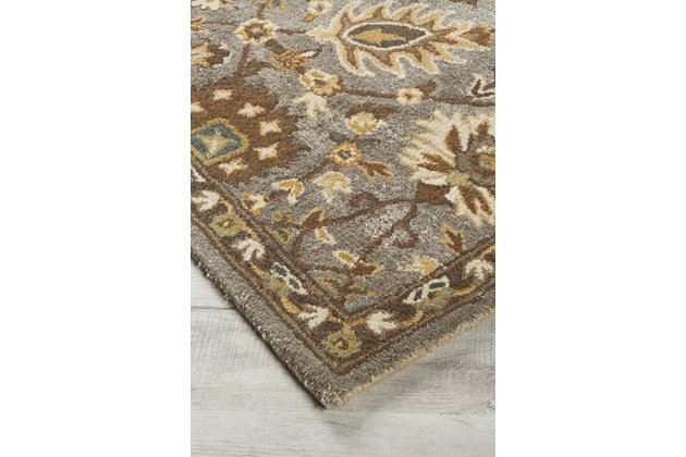 Dulani 5' x 8' Rug by Ashley HomeStore, , Viscose/wool