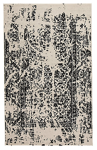 Jag 5' x 8' Rug, Black/White, large