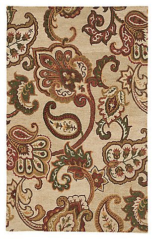 Jamelia 8' x 10' Rug, Green/Cream, large