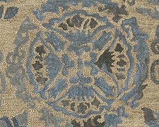 Alazne 5' x 8' Rug, Blue/Ivory, large