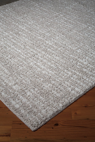 Norris 5' x 7' Rug, Taupe/White, rollover