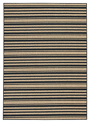 Joffrey 5' x 7' Rug, Black/Tan, large