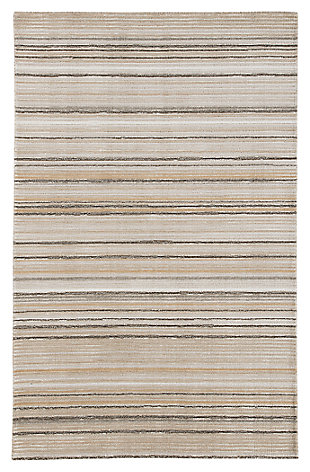 Sian 5' x 8' Rug, Beige/Brown, large