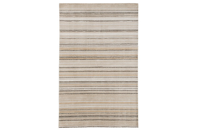 Sian 5' x 8' Rug, Beige/Brown, large