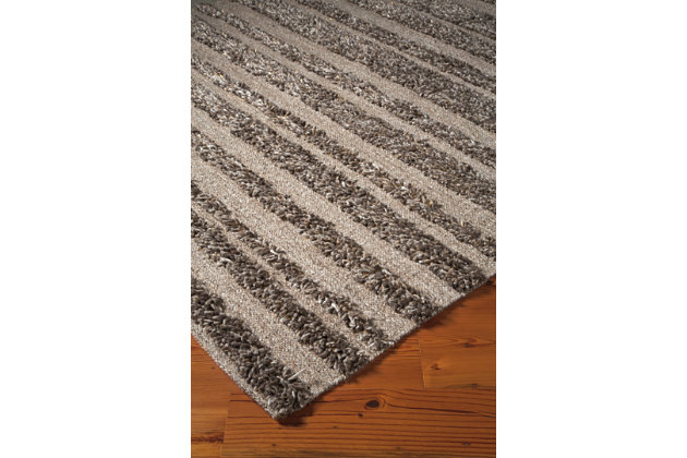 Jabari 5' x 8' Rug, Beige/Brown, large