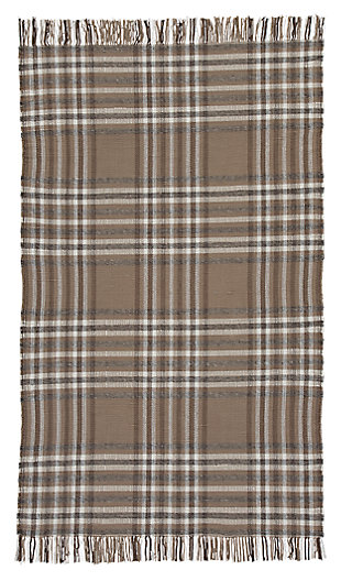 Hardy 5' x 8' Rug, Brown, large