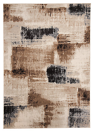 "Calvin 5'3"" x 7'3"" Rug, Brown/Black, large"