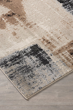 "Calvin 5'3"" x 7'3"" Rug, Brown/Black, rollover"