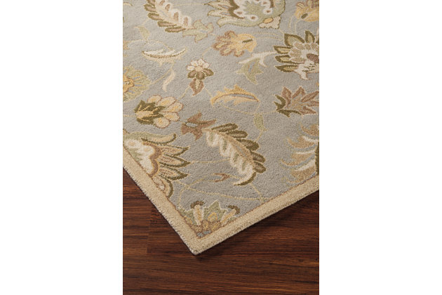 Flannigan 5' x 8' Rug by Ashley HomeStore, Green, Wool (1...