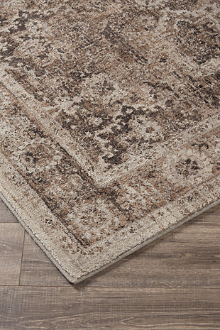 Geovanni 5' x 7' Rug, Stone/Taupe, rollover