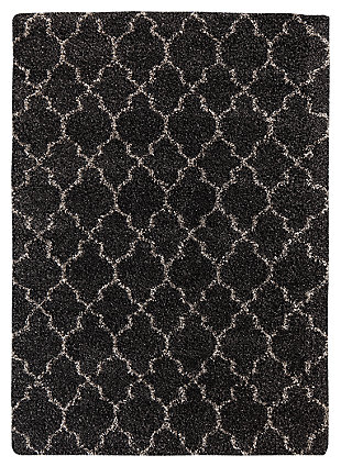 "Gate 7'10"" x 10'10"" Rug, Black, large"