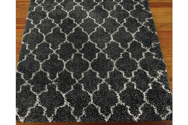 "Gate 5'3"" x 7'5"" Rug, Black, large"