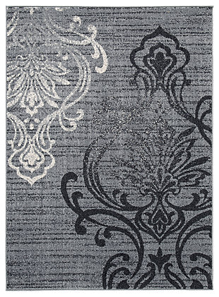 Verrill 5' x 7' Rug, Black/Cream/Gray, large