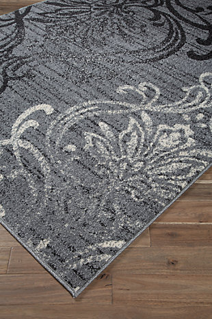 Verrill 5' x 7' Rug, Black/Cream/Gray, rollover