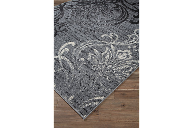Verrill 5' x 7' Rug, Gray/Black, large