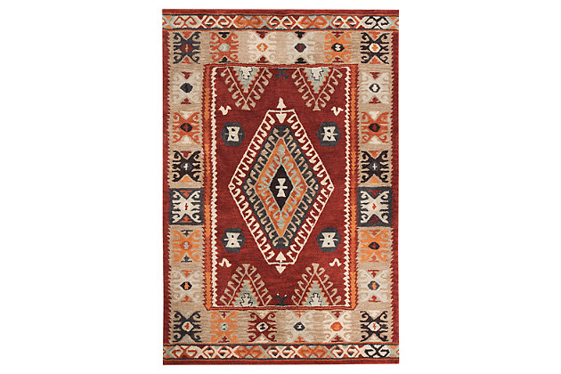 "Oisin 8' x 10'6"" Rug by Ashley HomeStore, Red, Wool (100 %)"
