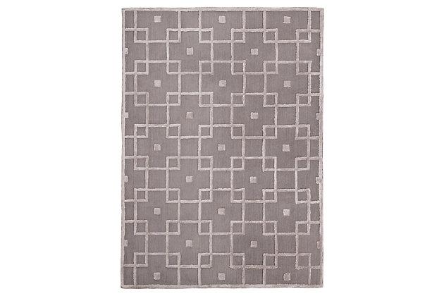 Tyrell 5' x 7' Rug, Gray, large