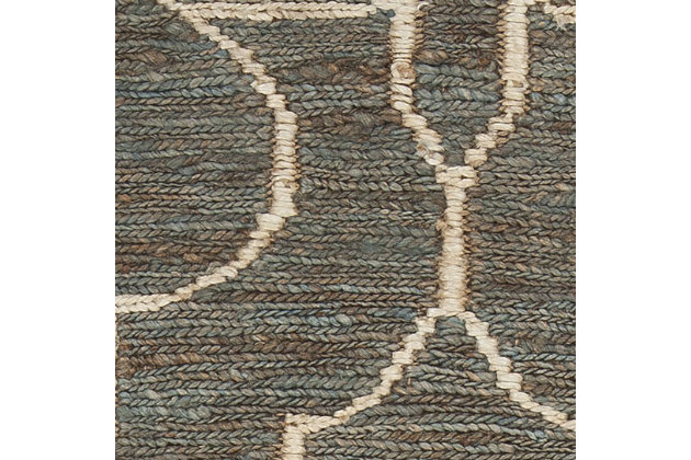 Gillian 8' x 11' Rug, Teal, large