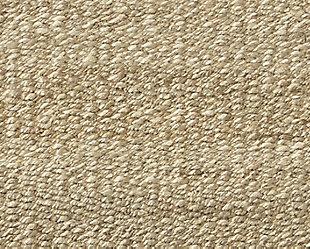 Textured 8' x 10' Rug, Tan/White, large