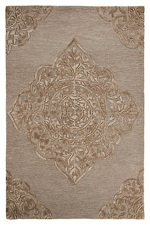 Zavier 8' x 10' Rug, Taupe, large