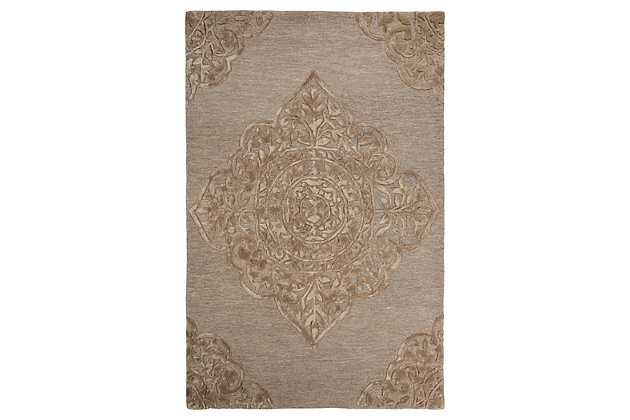 Zavier 5' x 8' Rug, Taupe, large