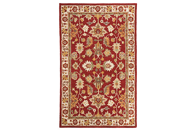 Scatturro 8' x 10' Rug, Red, large