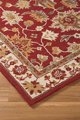 Scatturro 5' x 8' Rug, Red, rollover