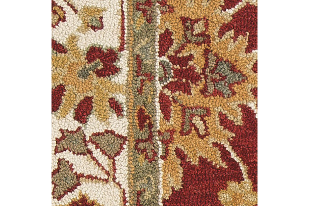 Scatturro 5' x 8' Rug, Red, large