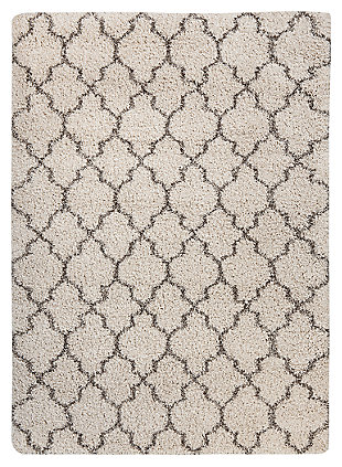 "Gate 5'3"" x 7'5"" Rug, Cream/Charcoal, large"
