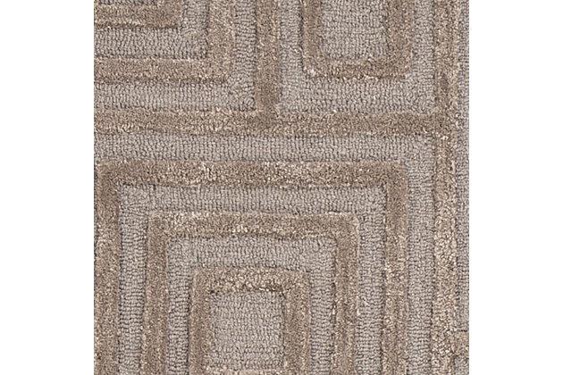 Megabyte 8' x 10' Rug, Gray, large