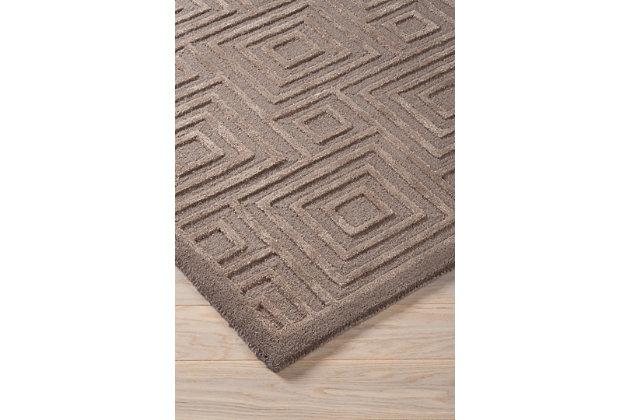 Megabyte 5' x 8' Rug, Gray, large