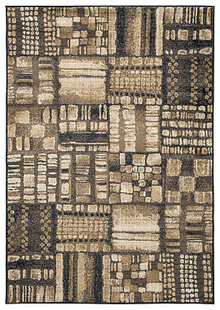 Hilliard 5' x 7' Rug, Black/Brown, large