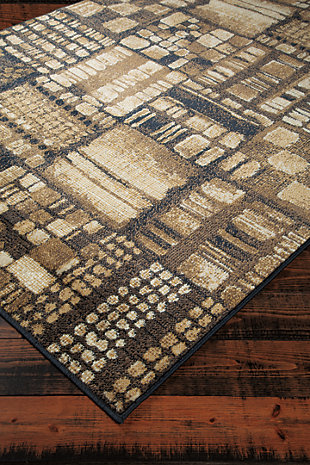Hilliard 5' x 7' Rug, Black/Brown, rollover